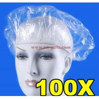 Buy cheap Disposable Hat Hotel One-Off Elastic Shower Bathing Cap Clear Hair Salon Waterproof Show Hats Bathroom Accessories from wholesalers