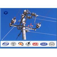Wholesale Steel Q345 Material Steel Utility Pole for Transmission and Distribution Line from china suppliers