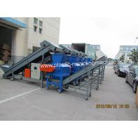 Quality Automatic Plastic Recycling Machinery With Belt Conveyor Material Discharging for sale