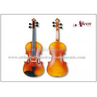 Wholesale Advanced Student Musical Instruments Violin Outfit , Warm Gold Brown Stain Acoustic Violin from china suppliers