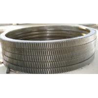 Buy cheap Tube Mill / Ball Mill Girth Gear Stainless Steel Large Diameter Toothed Ring from wholesalers
