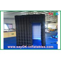 Wholesale 2.4m Black Inflatable Photo Booth , LED Light Inflatable Picture Booth from china suppliers