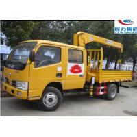 Wholesale dongfeng double cabs 4*2 LHD 2tons cargo truck with crane for sale, hot sale dongfeng telescopic boom mounted on truck from china suppliers