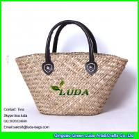 Wholesale LUDA traditional french style market shopping basket natural seagrass straw bag from china suppliers