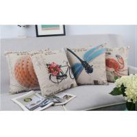 Wholesale Digital Printed Cotton Linen Luxury Sofa Cushions Bicycle Flowers Dragonfly Seashell from china suppliers