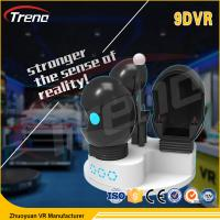 Quality Thrilling Roller Coaster Rides 9D VR Simulator Rotating Chairs Arcade Machine for sale