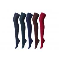 Wholesale Gray Solid Womens Cotton Tights , Autumn And Winter Thick Cotton Socks from china suppliers