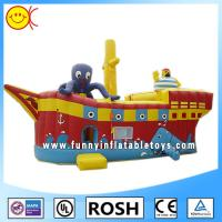 Wholesale Cool Sailor Octopus Inflatable Combo Bouncers Party Event Inflatable Ship Bouncer from china suppliers
