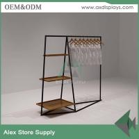 Wholesale Clothing display ideas rack red metal display cabinet commercial clothing display showcase from china suppliers