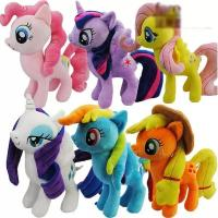 Wholesale 8 inch Cute and Lovely Cartoon Plush Toys My Little Pony  Family Collection Plush Toys from china suppliers