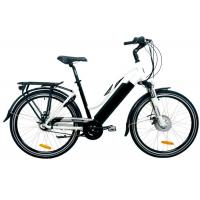 Wholesale Black City E Bike with 8FUN Rear Hub Motor , Lithium Battery and TGS Front Fork from china suppliers