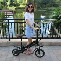 Mini Folding Electric Bike Scooter Bicycle Lighter Aluminum 6061 Black / White Color