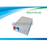 Quality FTTH Mini Fiber Optic Terminal Box 3 SC / FC / ST Adapor 6 LC Pigtails for sale