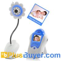 Wholesale Mini Wireless Baby Monitor (Flower Design, Blue, Night Vision) from china suppliers