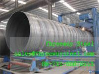 Buy cheap 22 m Welded SSAW Steel Pipe for low pressure liquid steel pipes from wholesalers