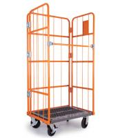 Wholesale Iron Wire Roll Container Detachable Collapsible , Roll Cage Pallet from china suppliers