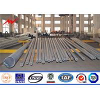 Buy cheap 21m Hot Dip Galvanization Steel Tubular Pole Electric For Electrical Transmission from wholesalers
