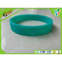 Buy cheap Eco-friendly Silicone Wrist Bracelets Green Flexible For Children from wholesalers