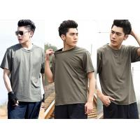 Wholesale Cool Short Sleeve Army Green T Shirt Cotton Uniforms For Men from china suppliers