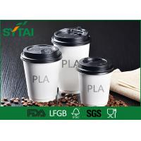 Wholesale Healthy Hot Drink PLA Paper Cups , Coffee Cups To Go With Lids Simple Design from china suppliers