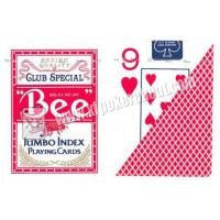 Wholesale Eco - Friendly Bee Wide Size Marked Poker Cards / Jumbo Index Playing Cards from china suppliers