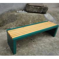 Wholesale Wooden Seats Metal Backless Garden Bench , Rust - Proof 2 Seater Outside Park Benches from china suppliers