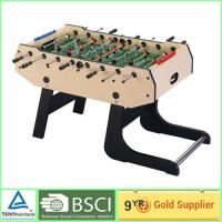 China Foosball Soccer Table training 9mm MDF Movable after folding foosball table on sale