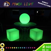 Wholesale Party LED Furniture Plastic LED Lighted Cube Chair from china suppliers