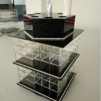 Wholesale Acrylic Makeup Organizer for Cosmetics Compartment Plexiglass Cosmetics Display Case from china suppliers