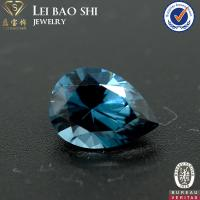 wholesale 122# night blue color synthetic gemstone cushion cut lab diamonds spinel for jewelry