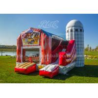 Wholesale Inflatable Pig Farmyard Toddler Bounce House With Animals Models , Repair Kits from china suppliers