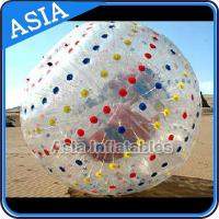 Wholesale 1.0mmTPU Inflatable Clear Zorb Hydro Ball , Color Dots Hydro Ball from china suppliers