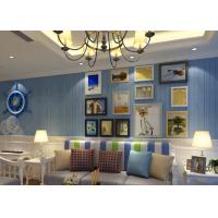 Wholesale Modern Striped Interior Room Wallpaper Designs For Walls Mediterranean Style from china suppliers