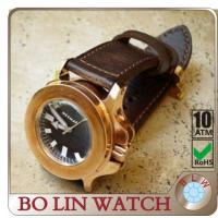 Wholesale German Material CuSn8 Case Bronze Mens Watches Rose Gold Explosion - Proof from china suppliers