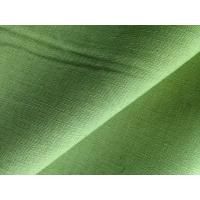 Wholesale Green Yellow Dyed Fabric Cloth Linen Cotton Blend for Short Trousers / Skirts / Pillows from china suppliers