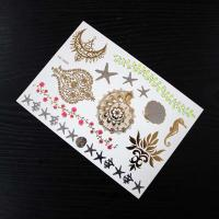 Wholesale Colorful Golden Temporary Hair Tattoos Stickers Design For Kids / Adults from china suppliers