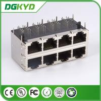 Quality DGKYD24Q077HWA4D RJ45 Magnetics , 2X4 RoHS Gigabit Ethernet Rj45 0811-2X4R-28-F for sale