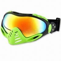 Wholesale Ski Goggles with TPU Soft Frame, Anti-fog and UV400 Protection, Double Layer Polycarbonate Lens from china suppliers