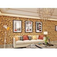 Wholesale Soundproof Wood 3D Room Wallpaper , 3D Vinyl Wallpaper For TV Background from china suppliers