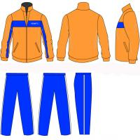 Wholesale Youth Yellow / Blue Polyester Custom Printing Logos Tracksuits Sports Wear from china suppliers