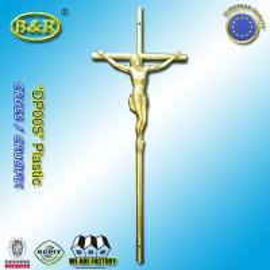 Wholesale Size 37.5cm*14cm coffin decoration catholic plastic christ crucifixes Ref DP005 plasticos cruces con cristos from china suppliers