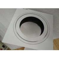 Buy cheap Max 75W G53 Square Tiltable LED Recessed Downlight Anti-Glare Reflector For Hotel from wholesalers