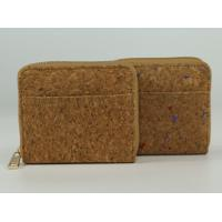 Wholesale Different Mini Style Nature Cork Raw material Women wallet 10x9cm with card and money slot from china suppliers