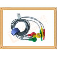 Wholesale Durable Din Style Safety 3 Lead Ecg Cable With PU Material , IEC Standard from china suppliers