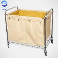Wholesale Efficient Rectangle Laundry Serving Trolley With Wheels / Hospital Laundry Carts from china suppliers