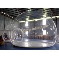 Wholesale 0.5mm PVC Transparent Inflatable Tent Clear Air Bubble Tent With Single Layer from china suppliers