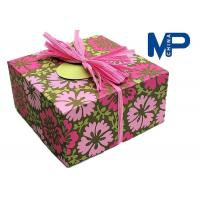 Wholesale Lock Fashionable Square Texture Paper Gift Boxes For cloth / shoes from china suppliers