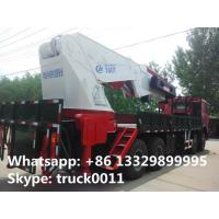 Wholesale high quality hot sale 8*4 SINOTRUK HOWO 80ton heavy duty truck with crane, best price SINO TRUK HOWO truck mounted crane from china suppliers