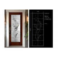 Quality Building Art Glass Panels Patina Brass / Black Chrome / Red Copper Optional for sale