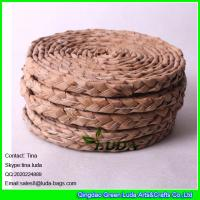 Wholesale LUDA handmade woven straw placemats natural fiber oval placemats from china suppliers